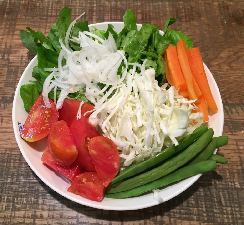 オーガニックのサラダ