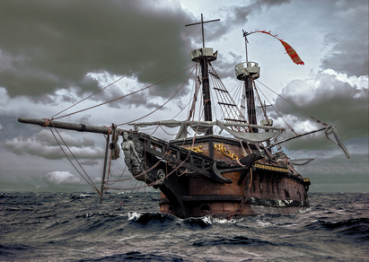 海賊船写真